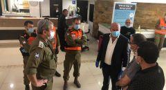 قائد منطقة الجليل الغربي في الجبهة الداخلية في زيارة تفقدية لفندق نهاريا