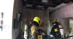 حريق في مبنى المركز الجماهيري في بلدة مشيرفة