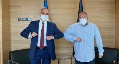 جلسة عمل مشتركة تجمع رئيس الهستدروت بعميد بنك اسرائيل