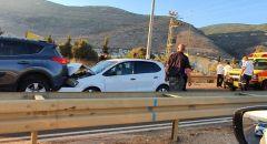 حادث طرق على شارع ٨٥ بالقرب من الرامه