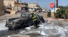 برطعة: اندلاع حريق في سيارة تحمل أسطوانات غاز دون وقوع اصابات