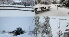العاصفة تشتد: بدء تساقط الثلوج في القدس وبرَد وأمطار غزيرة وثلوج في الجولان وجبال الجليل