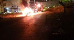 اندلاع حريق بسيارة في عيلبون