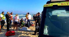 حالة حرجة لرجل بعد تعرضه للغرق في أحد شواطئ مدينة أشدود
