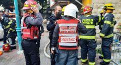 حيفا: تخليص عالقين من شقة سكنية جرّاء اندلاع حريق واصابة رجل وسيدة