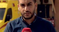 جلجولية :اشهار  السلاح على الصحافيان علي مغربي وماؤور تسور من القناه ١٣