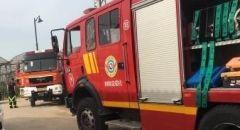 اندلاع النيران بعدد من الشاحنات في مدينة الرملة