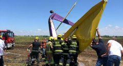 المركز : مصرع شخص في تحطم طائرة خفيفة واصابة خطيرة لفتى (14 عامََا)