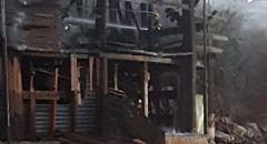 الرامة: احتراق منزل خشبي بالكامل