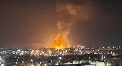 انفجار مستودع ذخيرة في منطقة الغباوي بالزرقاء - الاردن