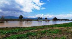 إثر هطول أمطار غزيرة,,, ارتفاع في منسوب مياه بحيرة طبرية