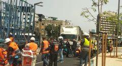 تل ابيب: سقوط جسم ثقيل على عامل اثناء تفريغ بضاعة