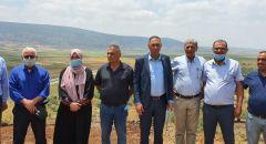 بمبادرة القائمة المشتركة جولة ميدانية بمشاركة وزير الزراعة لانقاذ سهل البطوف