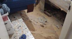 ريشون لتسيون : اصابة شخصان اثر انهيار ارضية الطابق الثالث