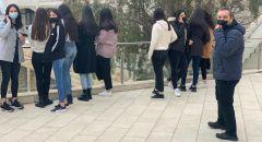التوجيه الدراسيّ لطلاب المركز الثقافيّ جمعيّة الغرباء عرابة في الجامعة العبريّة القدس.