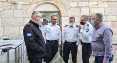 القدس: قائد سلطة الإطفاء والإنقاذ الجنرال ديدي سمحي يزور محطة إطفاء وادي الجوز