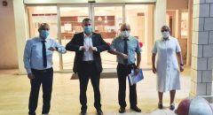 وزير الصحة ومدير عام مكتبه في زيارة للمستشفى الفرنسي في الناصرة