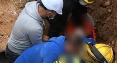 تخليص عامل سقط في بئر في طيرة الكرمل
