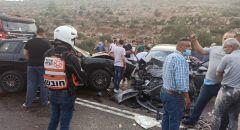 مصرع شخصين وإصابة اخرين اثر حادث طرق على شارع 60 قرب الضفة الغربية