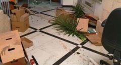 اعمال تخريب بمبنى بلدية القدس
