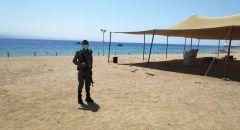 استنفار في ايلات: مواطن اردني يصل سباحة الى احد الشواطئ