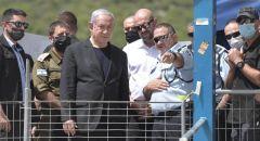 نتنياهو يصل الى جبل الجرمق ويعلن عن حداد يوم الأحد : 'من أكبر المآسي في تاريخ اسرائيل'