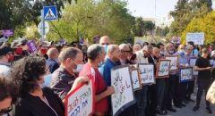 مظاهرة تضامنية مع اهالي حي الشيخ جراح في القدس
