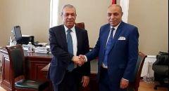 سفير دولة فلسطين بموسكو يستقبل اللجنة المنظمة لجائزة روسيا الكبري للملاكمه العربية