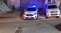 القاء قنبلة على مركز الشرطة في ام الفحم