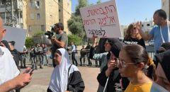 اهالي اللد  يتظاهرون ضد محاولات النواة التوراتية والبلدية السيطرة على ساحة مدرسة عربية!