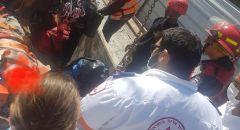 تخليص عامل علق في بئر بورشة بناء بمدينة تل أبيب