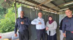 ترقية قائد محطة إطفاء وادي الجوز طارق أبو غربية بحضور قائد سلطة الإطفاء والإنقاء