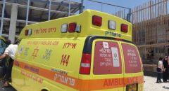 إصابة عاملين بجراح بسبب سقوط جسم ثقيل خلال عملهما بورشة بناء في قيساريا
