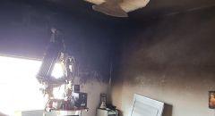اندلاع حريق داخل منزل في ام الفحم
