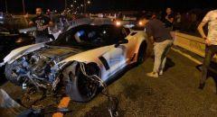 اصابة شابين احدهما بجراح خطيرة اثر حادث طرق قرب بئر المكسور