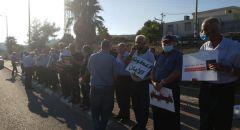 تظاهرة احتجاجية ضد العنف والجريمة وتقاعس الشرطة في عدة بلدات عربية