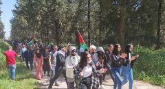 مشاركة واسعة بمسيرة اللجون بذكرى النكبة,,, و رفع الاعلام الفلسطينية والكوفية
