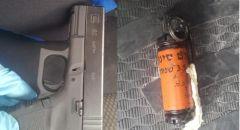 الشرطة بحملة مكثفة في ابطن والعثور على مسدس وقنبلة واعتقال شاب