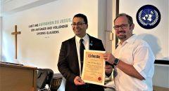 الكنيسة الإنجيلية الألمانية في ميونيخ تكرم السفير أ. إلياس سوسان من قرية الرامة