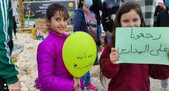 كفرقرع: مدرسة جسر على الوادي في مظاهرة تعبيرًا عن إشتياقهم للمدرسة ونبذ العنف