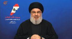 نصر الله: ننفي بشكل قاطع وجود أي صواريخ أو مواد لنا في مرفأ بيروت