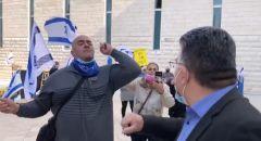 متظاهرو الليكود واليمين يحاولون الاعتداء على النائب يوسف جبارين في المحكمة العليا
