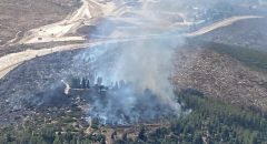 اندلاع حريق هائل في احراش بالقرب من حاجز ترقوميا (غرب الخليل)