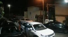توثيق بالفيديو لإحراق سيارة في مدينة سخنين