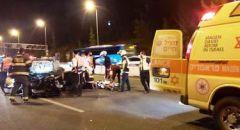 دالية الكرمل,,, اصابة سائقة ( 21 عاما ) بحادث طرق ذاتي