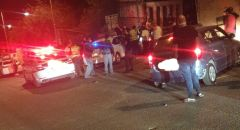 حادث طرق في عيلبون بعد مطاردة الشرطة لسيارة مشبوهه
