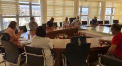 اجتماع خاص في بلدية سخنين بعد دخول المدينة المنطقة الحمراء بعد ارتفاع باصابات الكورونا