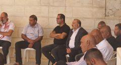 النائب منصور عباس يزور المسجد الكبير  وذوي الشهيد موسى حسونة والكنيس الذي أحرق في اللد