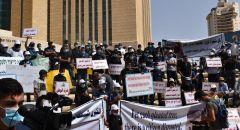 اهالي النقب يتظاهرون في بئر السبع ضد الهدم والترحيل