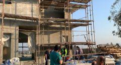 إصابة عامل إثر سقوطه عن ارتفاع بورشة بناء في عيمك حيفر